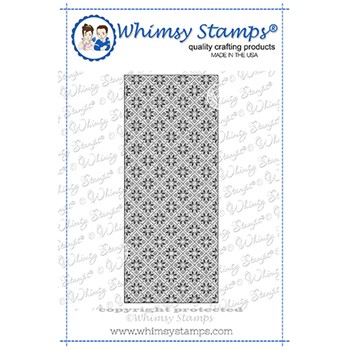 Whimsy Stamps SLIMLINE NORDIC BACKGROUND Cling Stamp WSEF0067