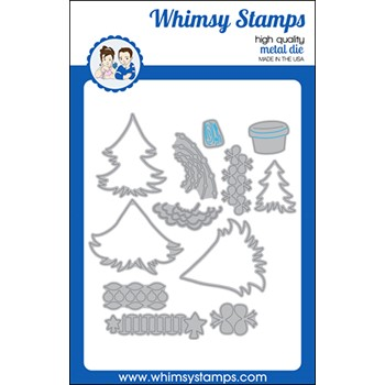Whimsy Stamps DECORATE A TREE Dies WSD578