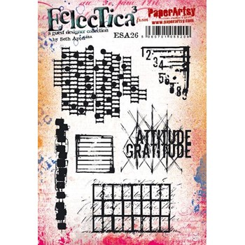 Paper Artsy SETH APTER 26 ECLECTICA3 Cling Stamp esa26