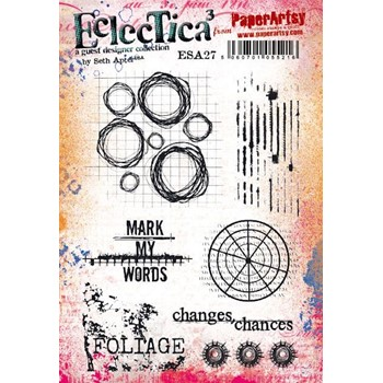 Paper Artsy SETH APTER 27 ECLECTICA3 Cling Stamp esa27