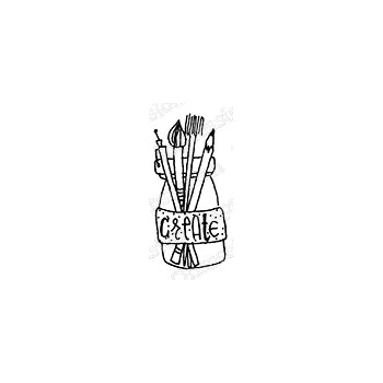 Impression Obsession Cling Stamp CREATE JAR A12388