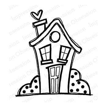 Impression Obsession Cling Stamp COTTAGE E21410