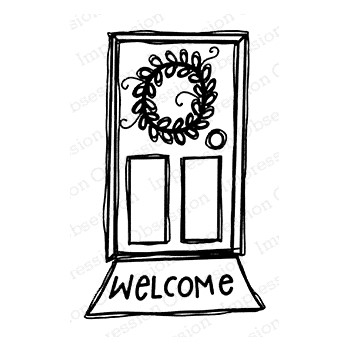 Impression Obsession Cling Stamp WELCOME MAT E21400