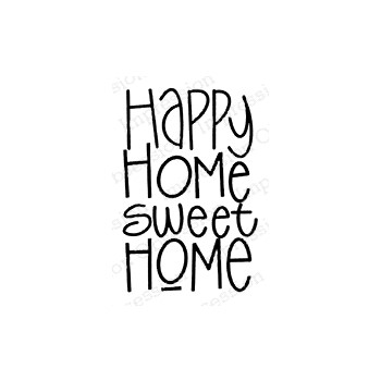 Impression Obsession Cling Stamp HOME SWEET HOME C21409