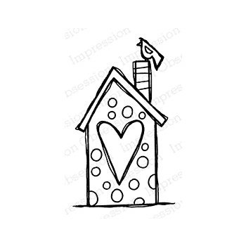 Impression Obsession Cling Stamp BIRD HOUSE D21413
