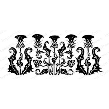 Impression Obsession Cling Stamp THISTLE BLOCK PRINT F22039