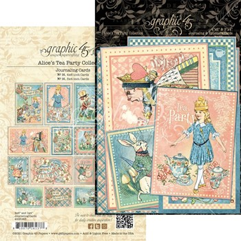 Graphic 45 ALICE'S TEA PARTY Journaling And Ephemera Cards g4502363