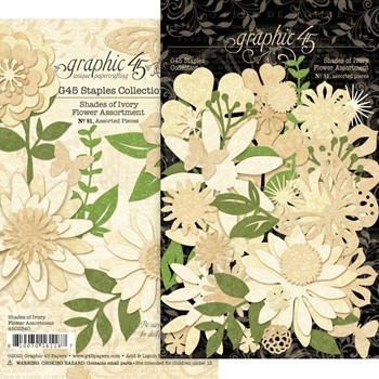 Graphic 45 SHADES OF IVORY Flower Die Cut Assortment g4502340