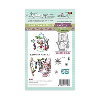 Polkadoodles GNOME WORTH MELTING FOR Matchables Clear Stamps pd8185
