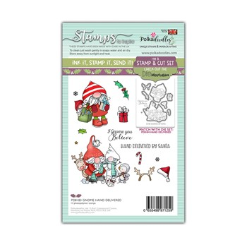 Polkadoodles GNOME HAND DELIVERED Matchables Clear Stamps pd8183