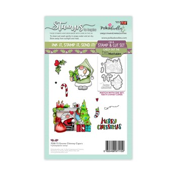 Polkadoodles GNOME CHIMNEY CAPERS Matchables Clear Stamps pd8173