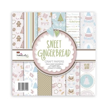 Polkadoodles SWEET GINGERBREAD 6x6 Paper Pack pd8212