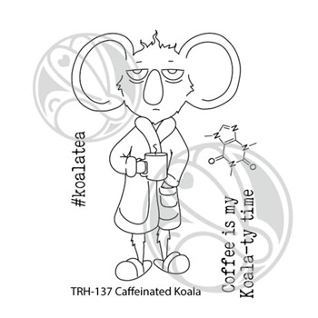 The Rabbit Hole Designs CAFFEINATED KOALA Clear Stamps THR-137