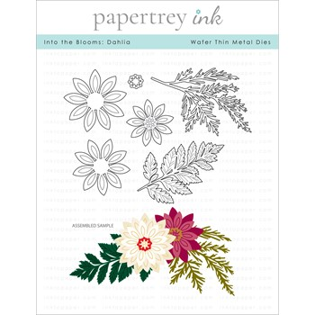 Papertrey Ink INTO THE BLOOMS DAHLIA Dies PTI-0363