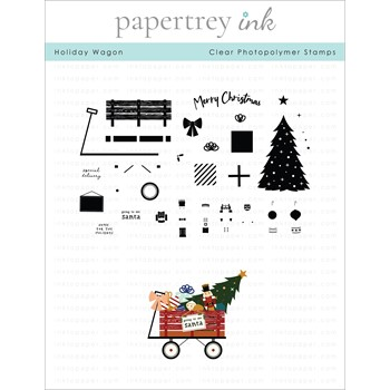 Papertrey Ink HOLIDAY WAGON Clear Stamps 1339