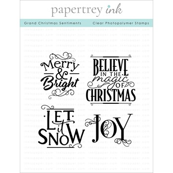 Papertrey Ink GRAND CHRISTMAS SENTIMENTS Clear Stamps 1336