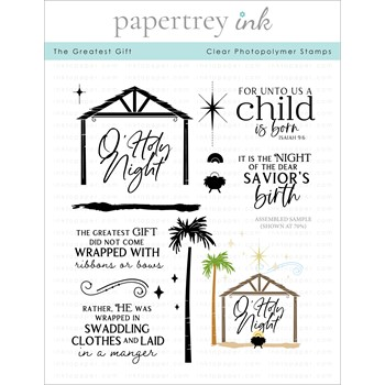 Papertrey Ink THE GREATEST GIFT Clear Stamps 1335