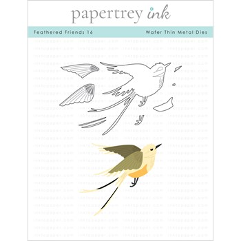 Papertrey Ink FEATHERED FRIENDS 16 Dies PTI-0352