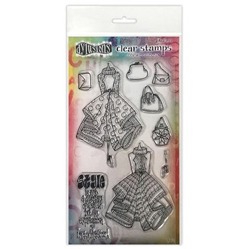 Dyan Reaveley LADIES WHO LUNCH DUO Couture Collection Clear Stamp Set dyb78357