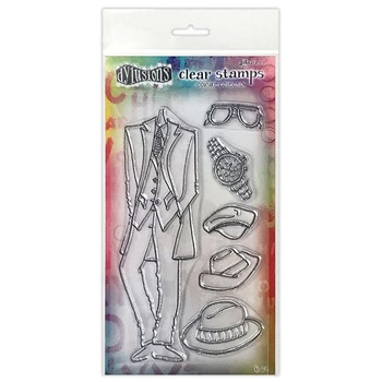 Dyan Reaveley A DAY AT THE RACES Couture Collection Clear Stamp Set dyb78326