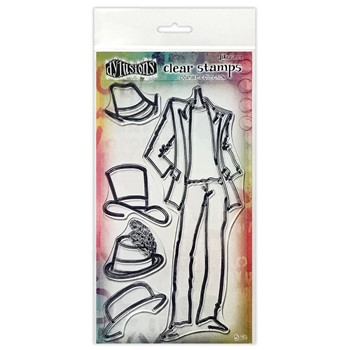 Dyan Reaveley MAN ABOUT TOWN Couture Collection Clear Stamp Set dyb78364