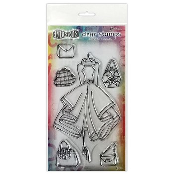 Dyan Reaveley LADIES WHO LUNCH Couture Collection Clear Stamp Set dyb78340