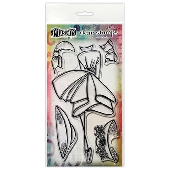 Dyan Reaveley WALK IN THE PARK Couture Collection Clear Stamp Set dyb78401