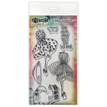 Dyan Reaveley WALK IN THE PARK DUO Couture Collection Clear Stamp Set dyb78418