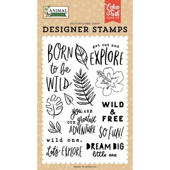 Echo Park BORN TO BE WILD Clear Stamps ak259043