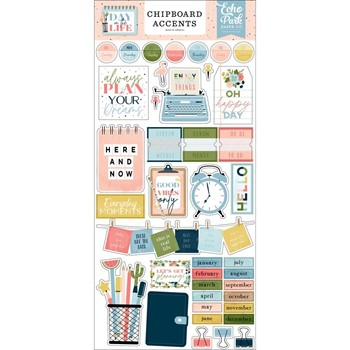 Echo Park DAY IN THE LIFE Chipboard Accents dl260021