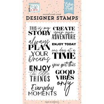 Echo Park THIS IS MY STORY Clear Stamps dl260049