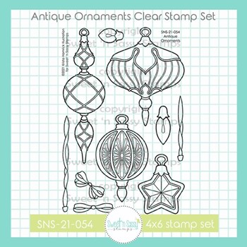 Sweet 'N Sassy ANTIQUE ORNAMENTS Clear Stamp Set sns21054