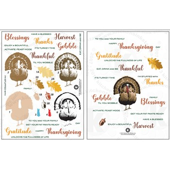 Kitchen Sink Stamps TURKEY BLESSINGS kss099
