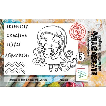 AALL & Create AQUARIUS A7 Clear Stamps aall583