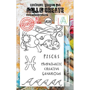 AALL & Create PISCES A7 Clear Stamps aall589