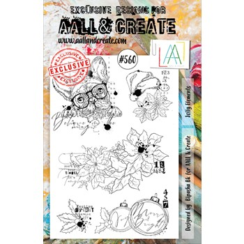 AALL & Create JOLLY ELEMENTS A5 Clear Stamps aall560