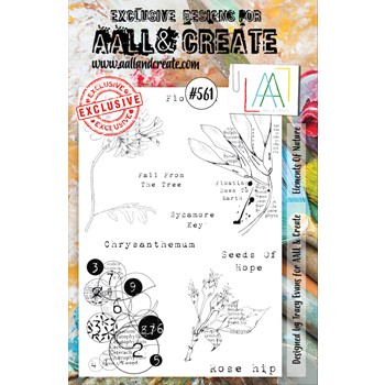 AALL & Create ELEMENTS OF NATURE A5 Clear Stamps aall561