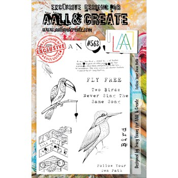 AALL & Create FOLLOW YOUR OWN PATH A5 Clear Stamps aall563