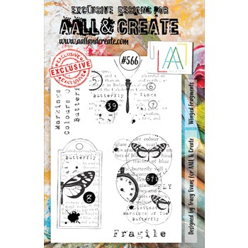 AALL & Create WINGED FRAGMENTS A5 Clear Stamps aall566