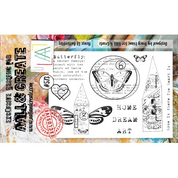 AALL & Create HOUSE OF BUTTERFLIES A6 Clear Stamps aall573