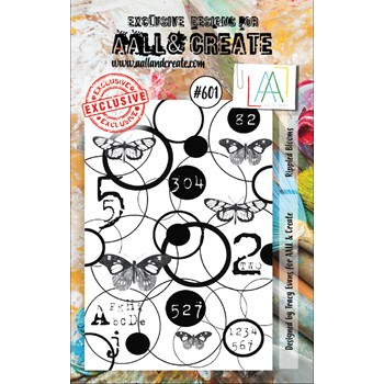 AALL & Create RIPPLED BLOOMS A7 Clear Stamps aall601