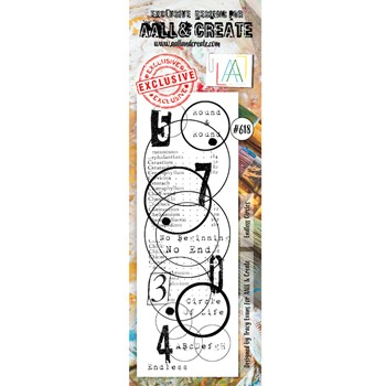 AALL & Create ENDLESS CIRCLES BORDER Clear Stamp aall618