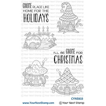 Your Next Stamp HOLIDAY GNOME SWEET GNOME Clear cyns833