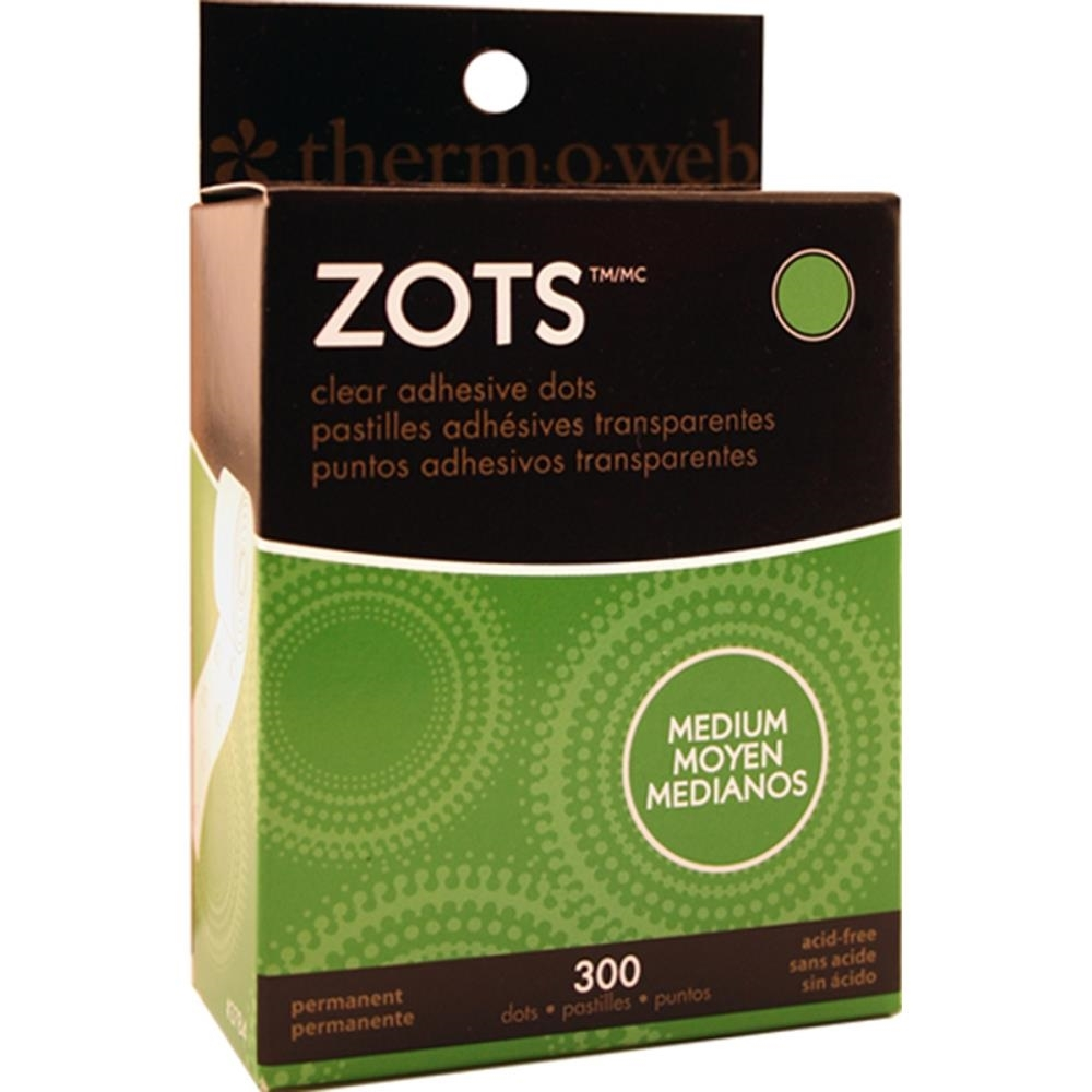 Zots MEDIUM Clear Adhesive Dots Permanent 3784 zoom image