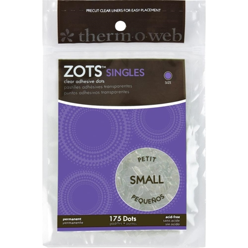Zots SINGLES SMALL Clear Adhesive 175 Dots 3690 Preview Image