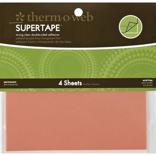 Therm O Web Double Sided SUPER TAPE SHEETS 5.5 x 4.5 Adhesive Glue* Preview Image