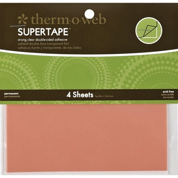 Therm O Web Double Sided SUPER TAPE SHEETS 5.5 x 4.5 Adhesive Glue*