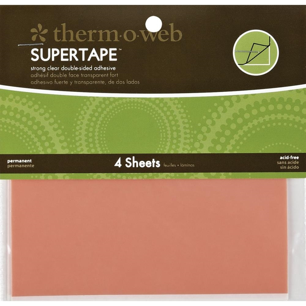 Therm O Web Double Sided SUPER TAPE SHEETS 5.5 x 4.5 Adhesive Glue* zoom image