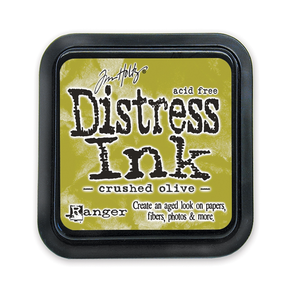 Tim Holtz Distress Ink Pad CRUSHED OLIVE Ranger TIM27126 zoom image