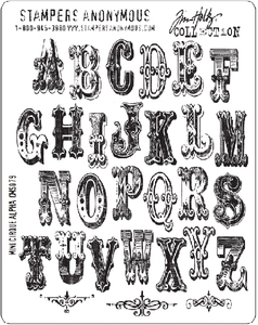Tim Holtz Cling Rubber Stamps MINI CIRQUE ALPHABET Stampers Anonymous zoom image
